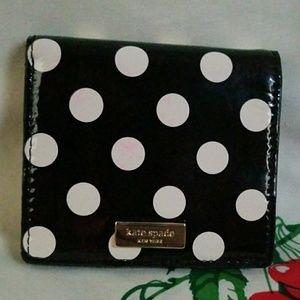 BARELY USED Kate Spade New York Polkadot Wallet!